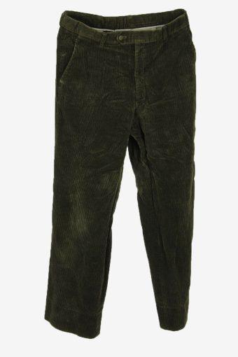 Corduroy Cord Trousers Vintage Flared Smart Casual Khaki Size W30 L30