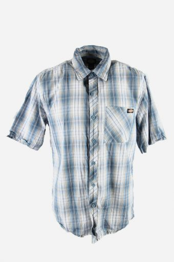 Dickies Mens Checked Shirt Short Sleeve Workwear 90s Multi Size L