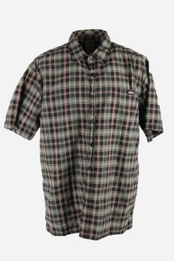 Dickies Mens Checked Shirt Short Sleeve Workwear 90s Multi Size XXL