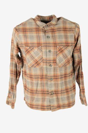 Flannel Shirt Vintage Check Long Sleeve Button 90s Cotton Multi Size S – SH4239