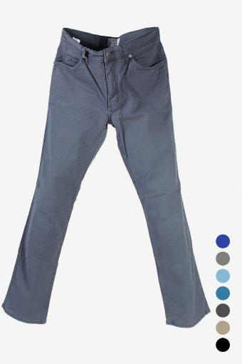 Men Mustang Chino Trousers Lightweight Denim Straight Leg