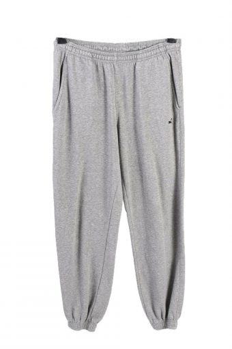 Puma Mens Tracksuit Bottom Sport Wear Elasticated Hem Vintage Size M Grey