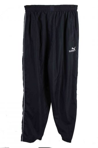 Puma Tracksuits Bottom Running Sportswear Vintage Size M Navy