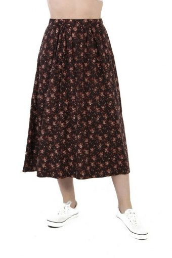 Victory Women Floral Skirt Casual Vintage Multi Coloured