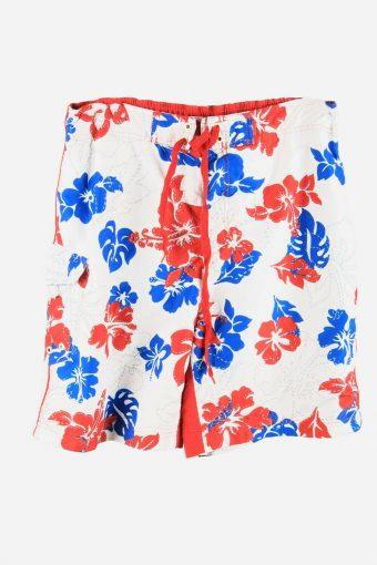 Vintage Bermuda Short Surf Beach Loud Holiday Hawaiian 90s White Size L