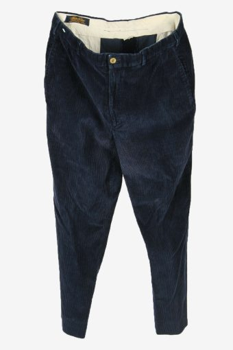 Vintage Corduroy Cord Trousers Loose Comford 90s Navy Size W36 L30