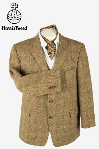 Vintage Harris Tweed Blazer Jacket Herringbone Windowpane Multi Size XXL