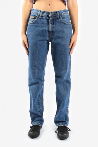Wrangler High Waisted Mom Baggy Jeans Straight Leg 90s Retro