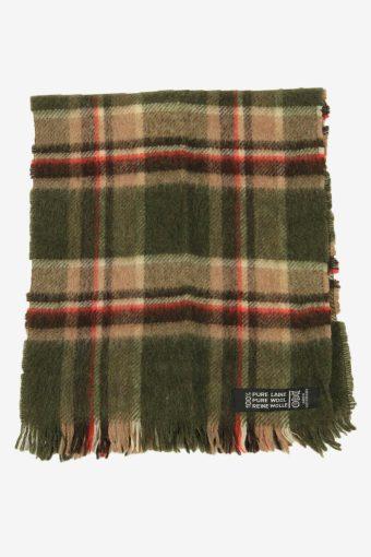 Wool Check Tartan Scarf Vintage Soft Tassel Plaid Warm 90s Retro Multi