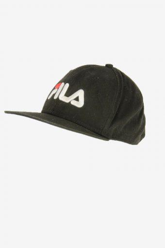 Fila Baseball Cap Adjustable Snapback Outdoor Vintage Retro Black