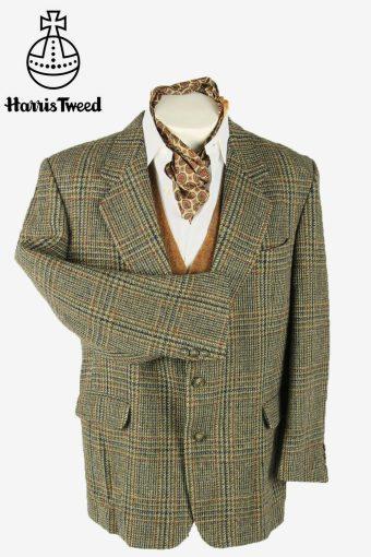 Harris Tweed Vintage Blazer Jacket Windowpane Country Weave Multi Size XL
