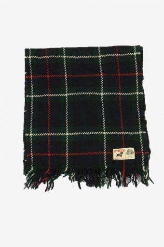 Kynoch Vintage Wool Check Tartan Scarf Winter Soft  90s Retro Green