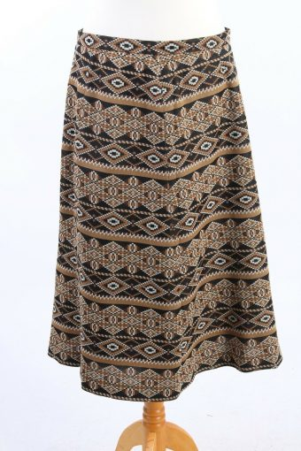 Long Lined Printed Skirt Fashionable 90s Classy Womens