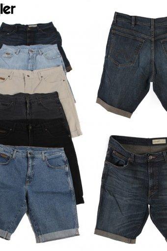 Vintage Wrangler Men Denim Shorts Cut Off Rolled Up