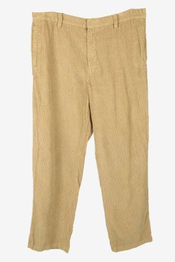 Nautica Corduroy Cord Trousers Vintage Straight Beige Size W36 L32