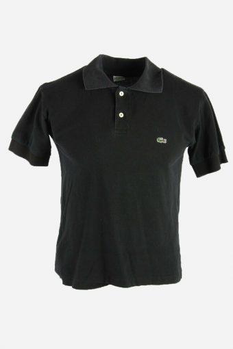 Polo Shirts Lacoste Pique Tshirt Golf  Casual Vintage Men Black Size S