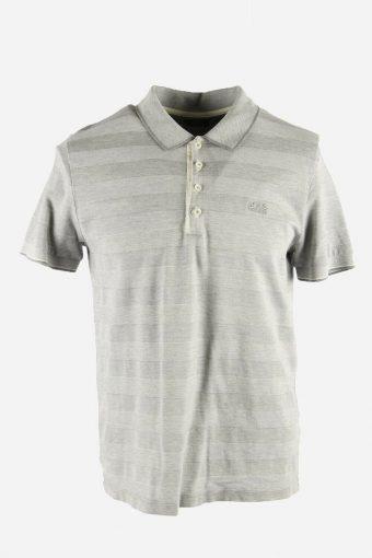 Polo Shirts Men Hugo Boss Pique Golf  T-shirt Casual 90s Grey Size L