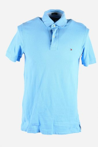 Polo Shirts Tommy Hilfiger Short Sleeve Top Tee Tshirt Men Blue Size S