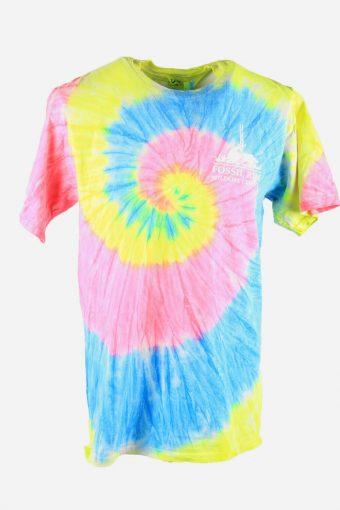 Rainbow Tie Dye T-Shirt Retro 90s Music Festival Hipster Men Multi Size L