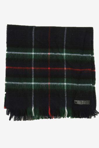 Tartan Scarf  Vintage Check Classic Tassel Soft Winter 90s Retro Green