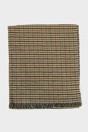 Tartan Scarf  Vintage Check Tassel Soft Winter 90s Retro Beige