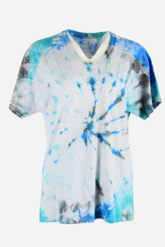 Tie Dye T-Shirt Retro Music Festival Hipster Vintage Women Multi Size L