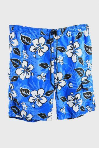 Vintage Bermuda Short Surf Beach Loud Holiday Hawaiian 90s Blue Size M