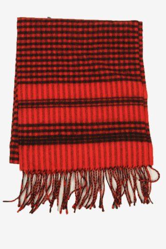 Vintage Check Tartan Neck Warmer Scarf Winter  90s Retro Red