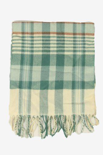 Vintage Check Tartan Neck Warmer Scarf Winter Soft  90s Retro Green