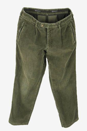 Vintage Corduroy Cord Trousers Loose Comford 90s Khaki Size W34 L30