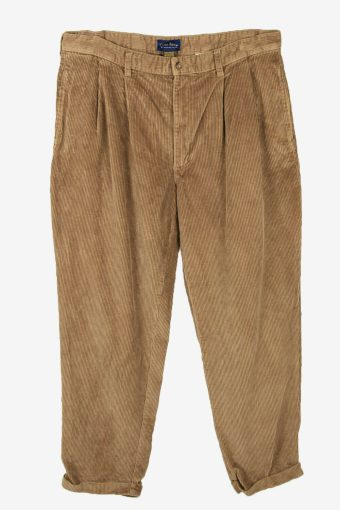 Vintage Corduroy Cord Trousers Oversize 90s Beige Size W38 L32