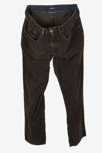 Vintage Corduroy Cord Trousers Relaxed Fit Smart Brown Size W36 L34