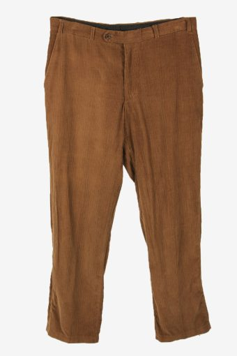Vintage Corduroy Cord Trousers Straight Casual Brown Size W36 L32