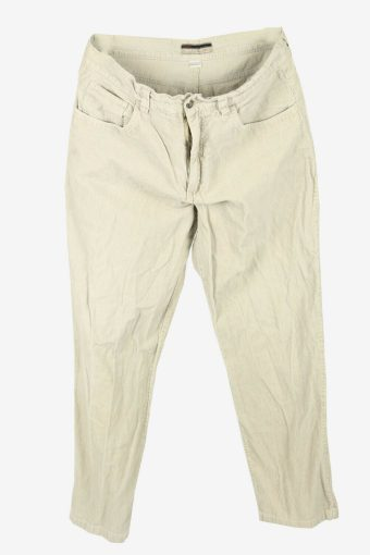 Vintage Corduroy Cord Trousers Straight Fit 90s White Off Size W36 L29