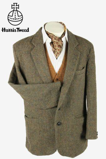 Vintage Harris Tweed Blazer Jacket Herringbone Country Multi Size XL