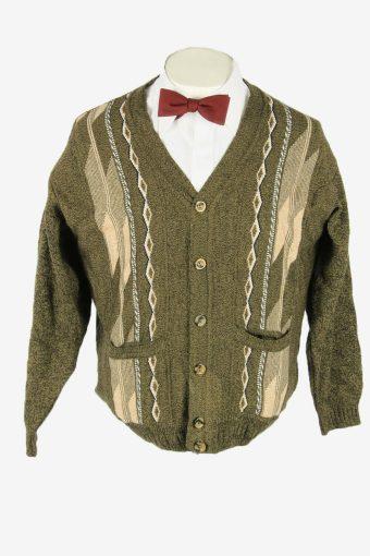 Vintage Knit Cardigan V Neck Pocket Aztec Button Up 90s Multi Size L – IL2709