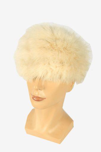 Vintage Russian Style Fur Hat Cossacks Winter Warm White Size 52 cm