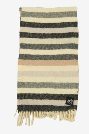 Vintage Striped Tartan Neck Warmer Scarf Winter Soft  90s Retro Multi