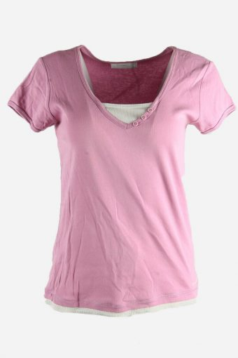 Women Champion T-Shirt Tee Short Sleeve Sports Vintage Purple Size XL