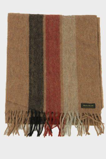 Wool Striped Tartan Scarf Vintage Soft Tassel Plaid Warm 90s Retro Multi