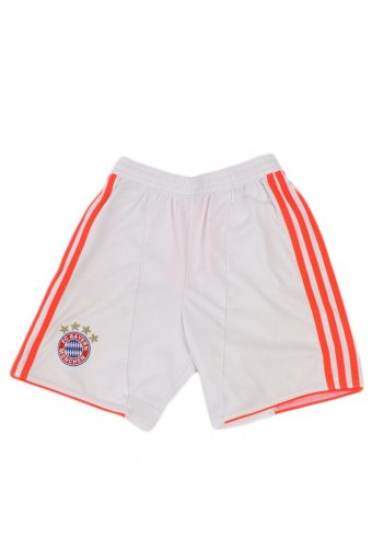 Adidas Bayern Munchen Football Shorts Vintage White Size 9 -10 Years
