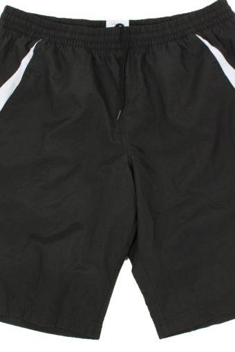 Adidas Mens Sport Short 3 Stripes Elasticated Vintage Size XL Black