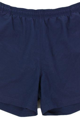 Adidas Mens Sports Short 3 Stripes Elasticated Vintage L Blue