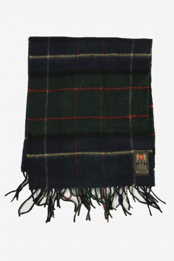 Cashmere Tartan Scarf  Vintage Check Tassel Soft Winter 90s Retro Multi