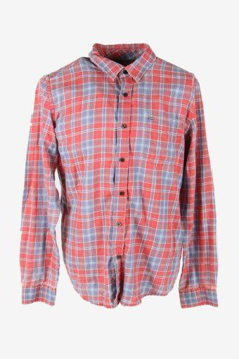 Flannel Shirt Vintage Check Long Sleeve Button 90s Cotton Multi Size L – SH4254