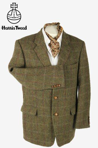 Harris Tweed Vintage Blazer Jacket Windowpane Country  Multi Size XL