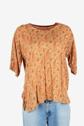 Hippie Gypsy Sequin Blouse Tunic Top Vintage Kaftan Retro Multi Size L