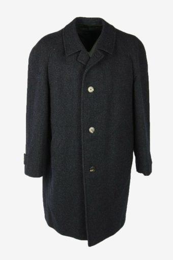 Overcoat Vintage Wool Coat Jacket Classic Warm Lined Navy Size XXXL