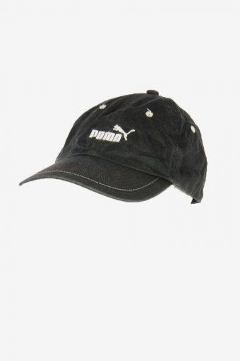 Puma Sport Cap Adjustable Snapback Outdoor 90s Vintage Retro Black