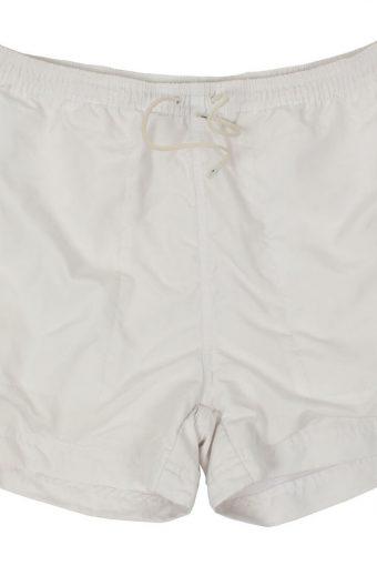 Puma Womens Sports Short Elasticated Waist Summer Beach Vintage L White